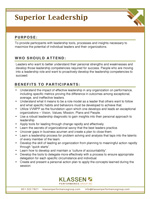 PDF Download link for Leadership Course: Superior Leadership