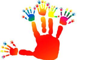 relationship management hands concept