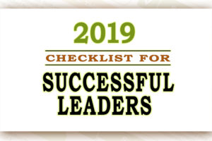 Checklist for Successful Leaders in 2019